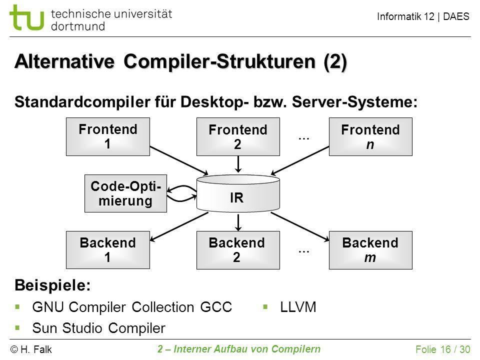 Alternative Compiler-Strukturen (2)