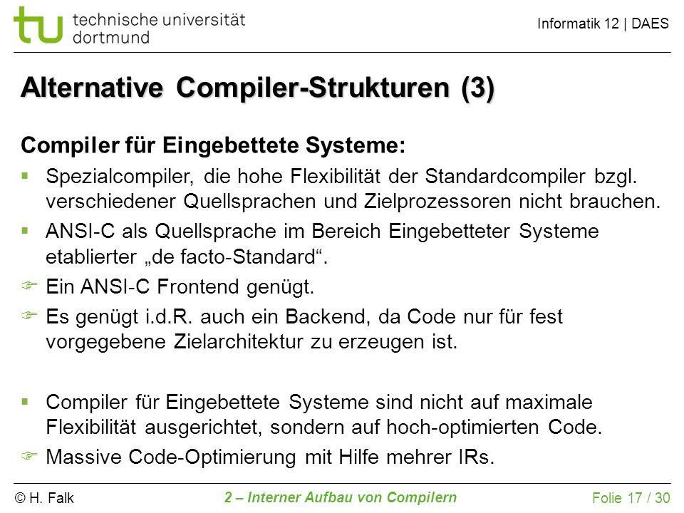 Alternative Compiler-Strukturen (3)