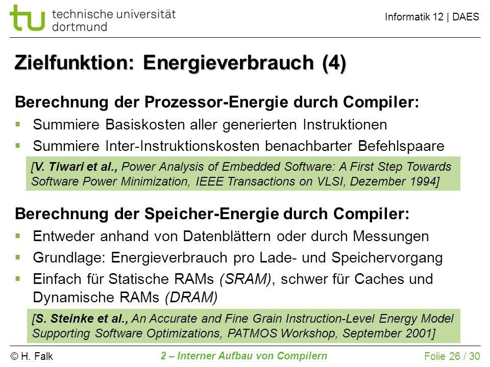 Zielfunktion: Energieverbrauch (4)