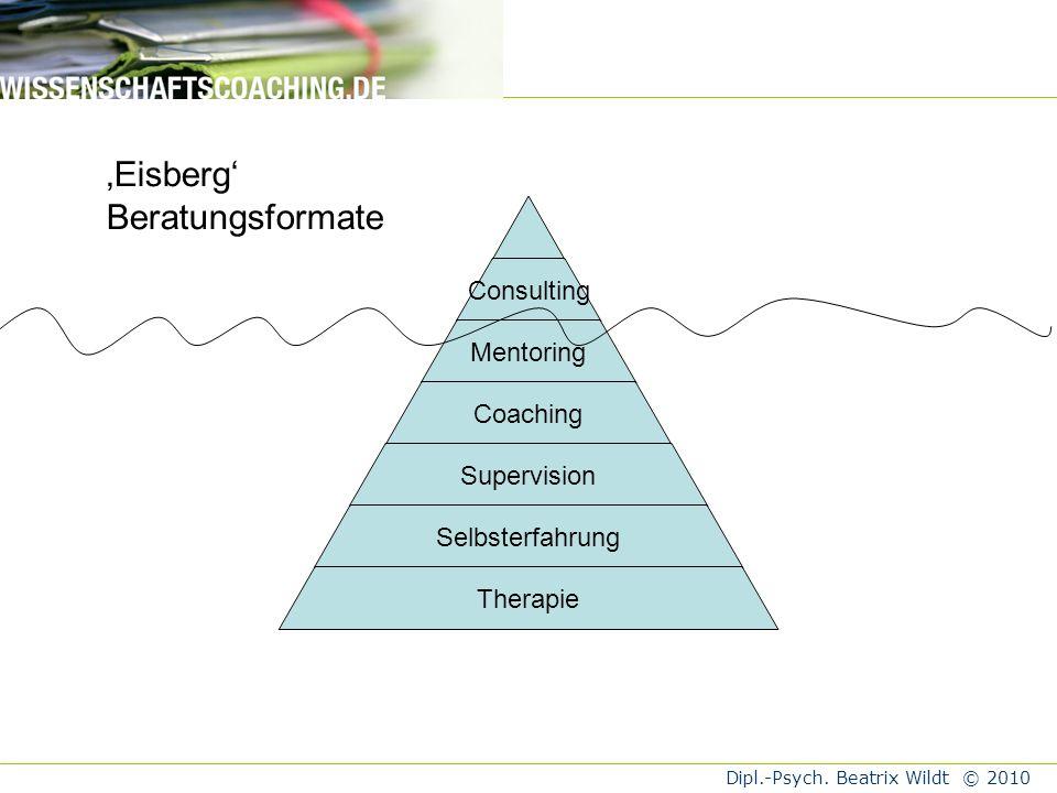 'Eisberg' Beratungsformate