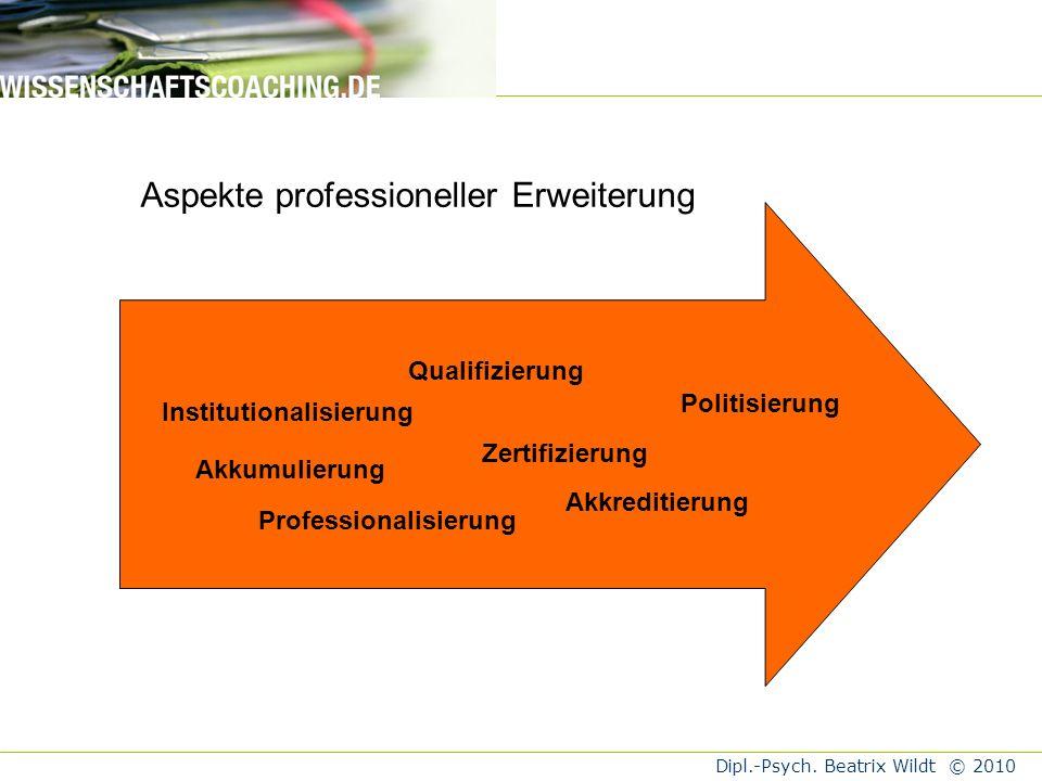 Aspekte professioneller Erweiterung