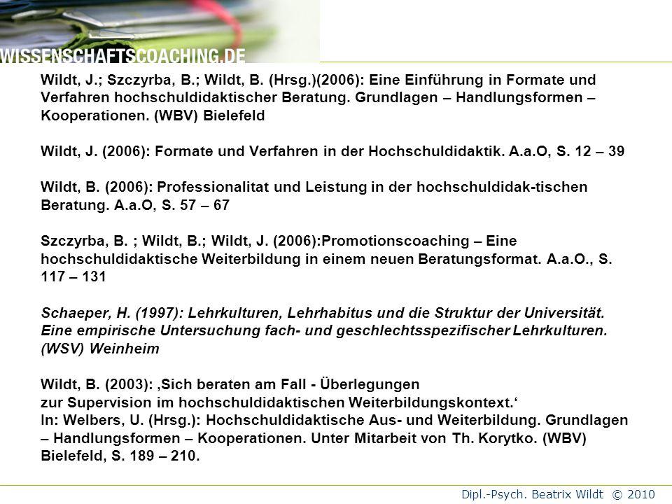 Wildt, J. ; Szczyrba, B. ; Wildt, B. (Hrsg