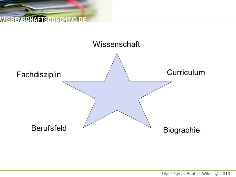 Wissenschaft Fachdisziplin Curriculum Berufsfeld Biographie