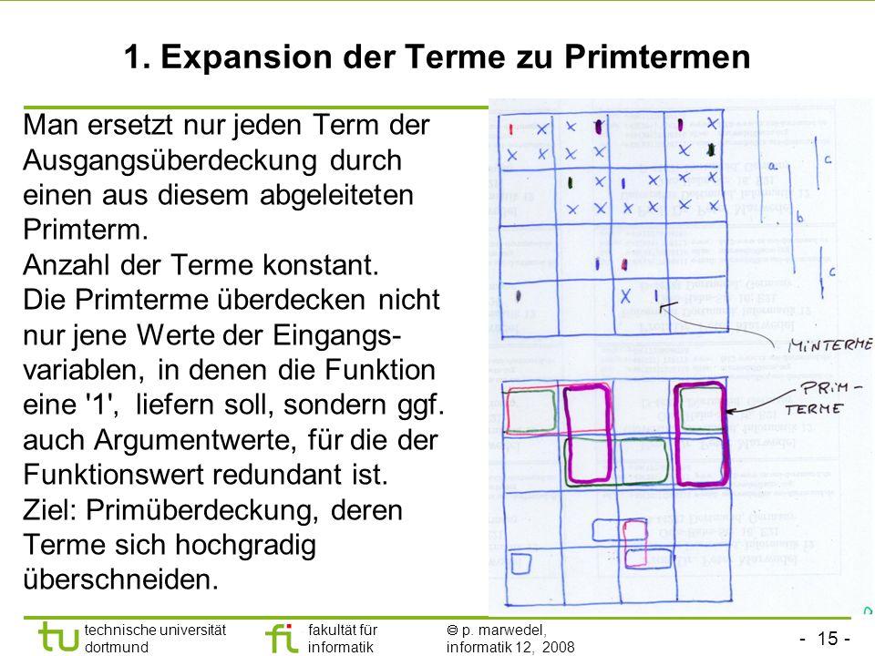 1. Expansion der Terme zu Primtermen