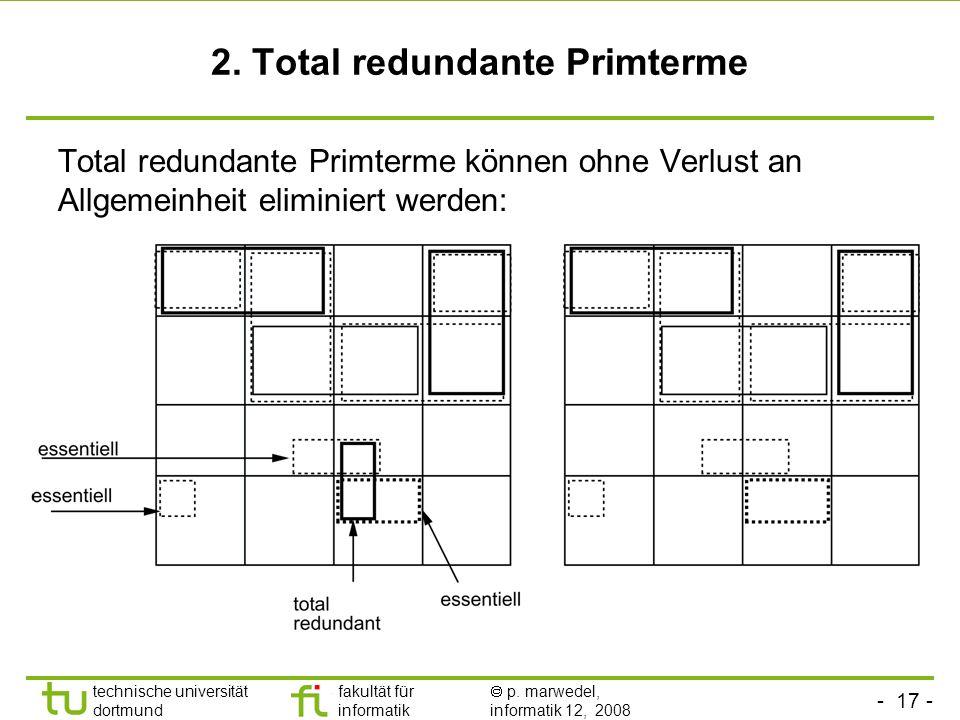 2. Total redundante Primterme