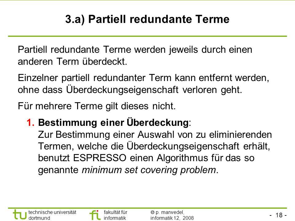 3.a) Partiell redundante Terme
