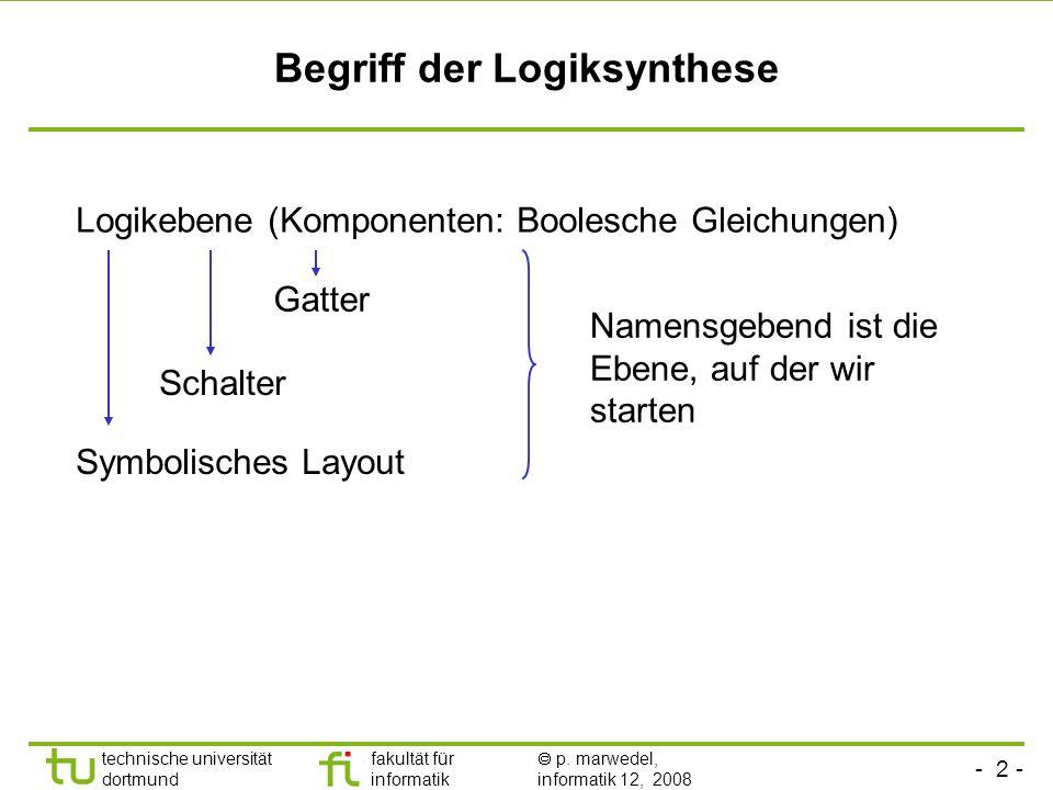 Begriff der Logiksynthese