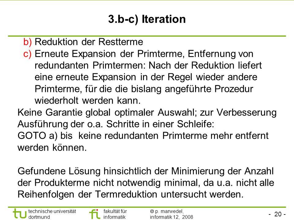 3.b-c) Iteration Reduktion der Restterme