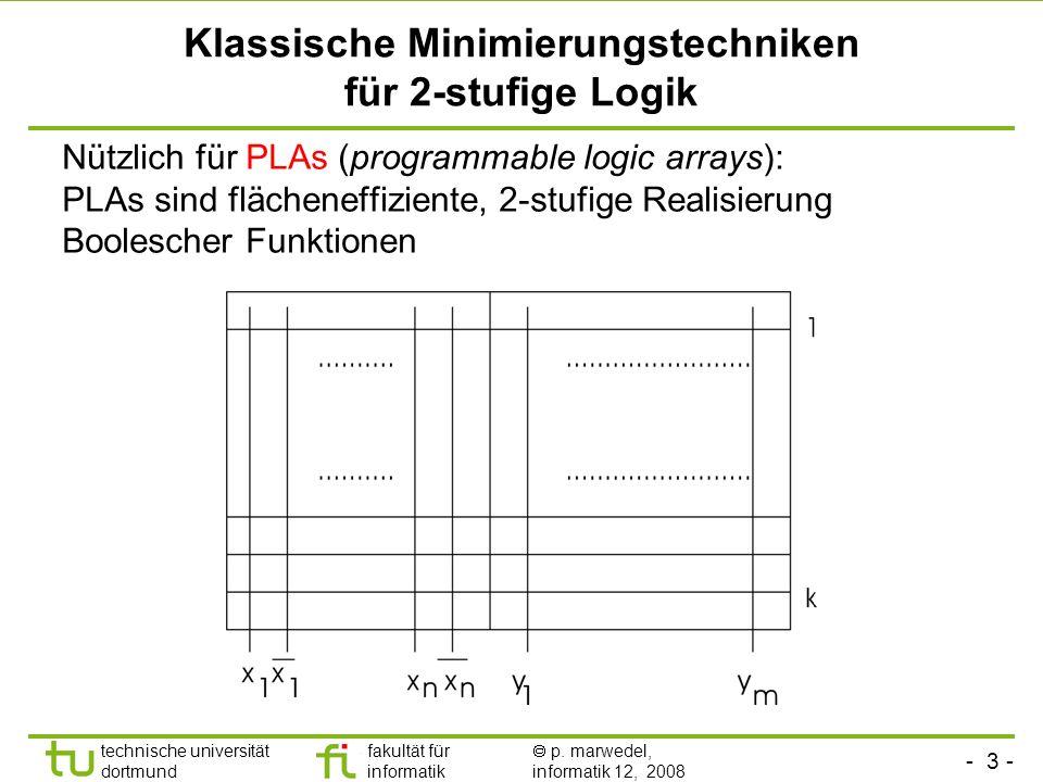 Klassische Minimierungstechniken für 2-stufige Logik