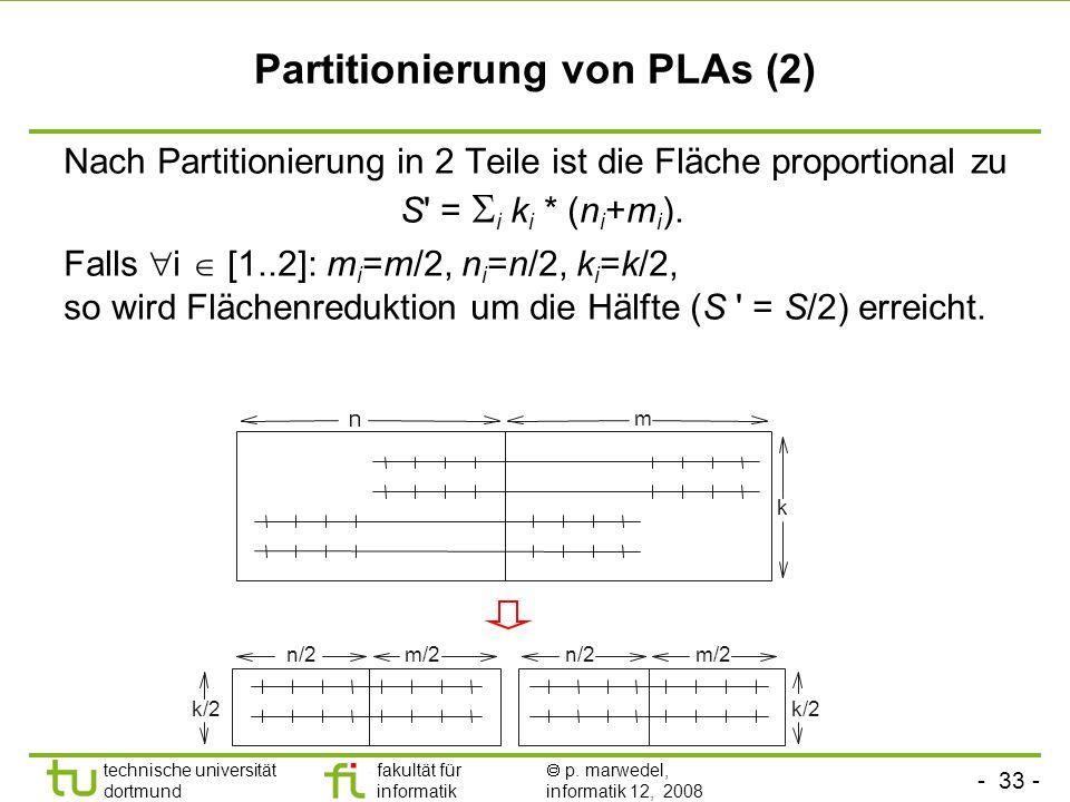 Partitionierung von PLAs (2)