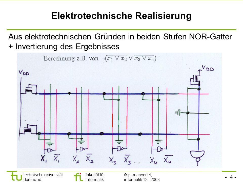 Elektrotechnische Realisierung