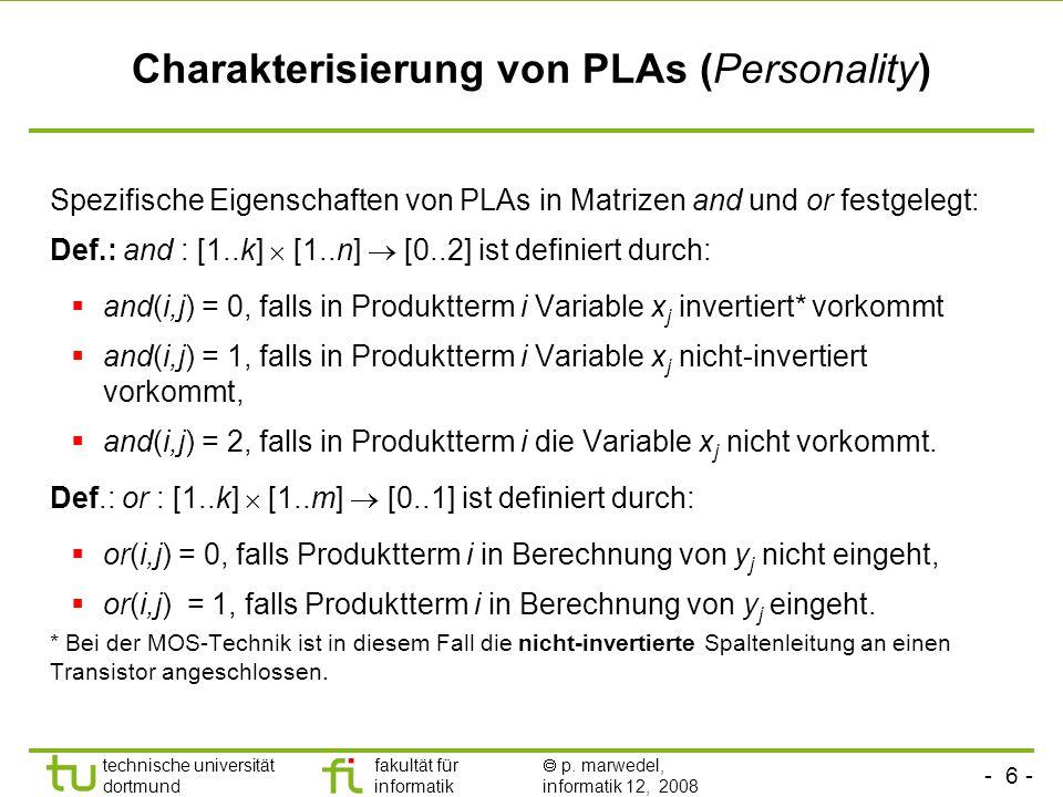 Charakterisierung von PLAs (Personality)