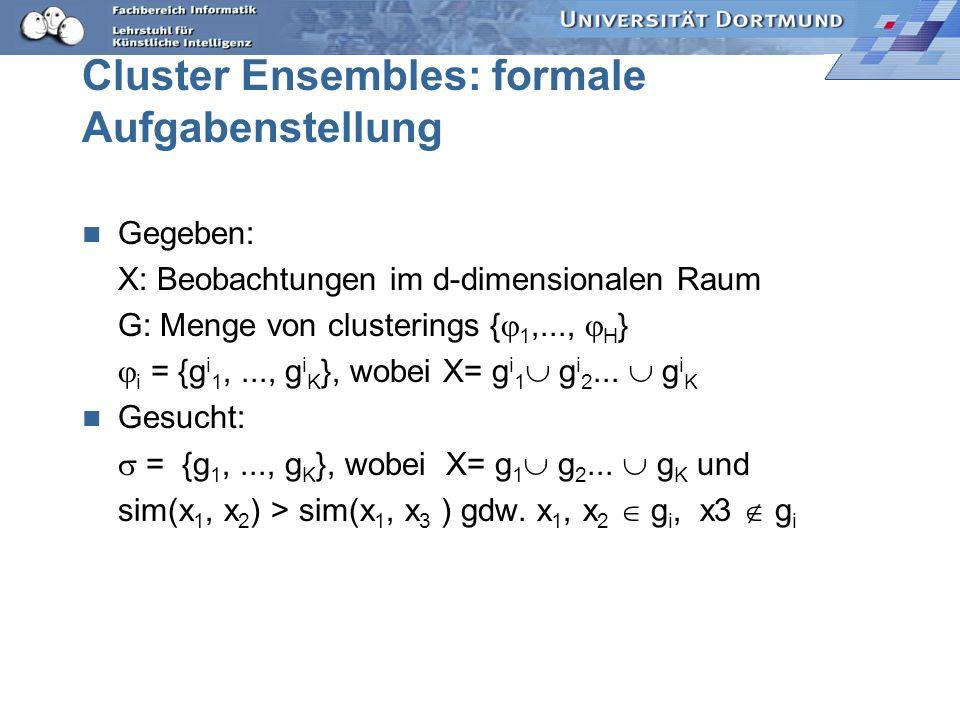 Cluster Ensembles: formale Aufgabenstellung
