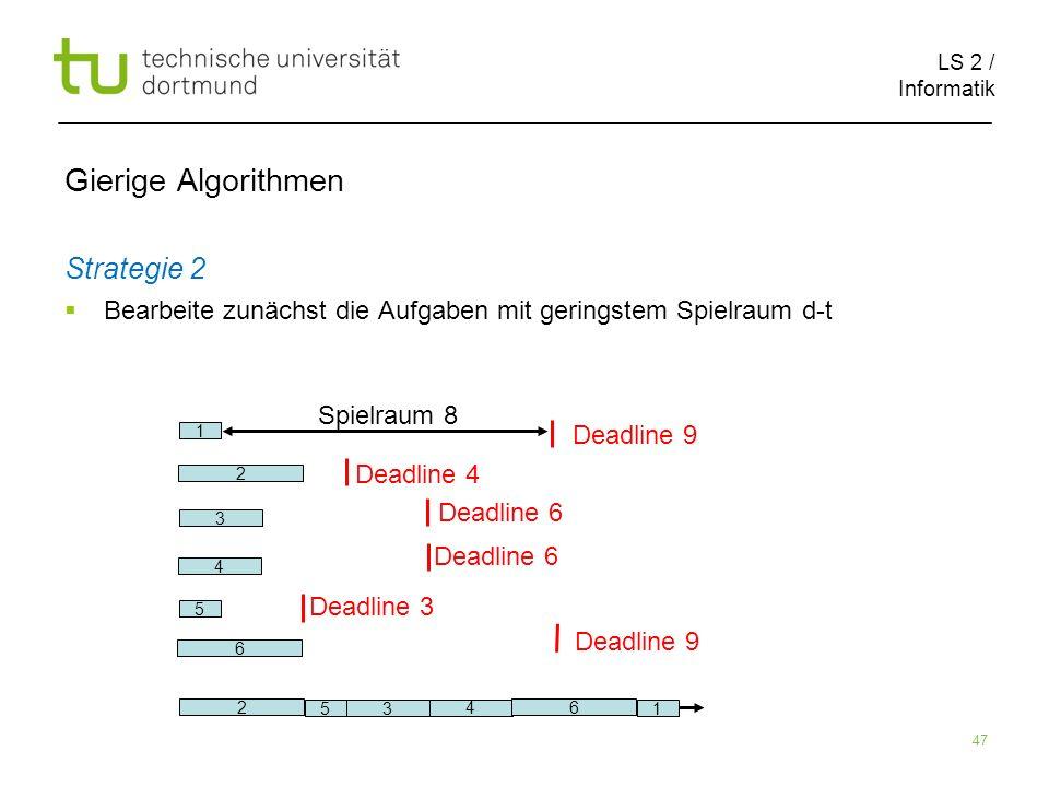 Gierige Algorithmen Strategie 2