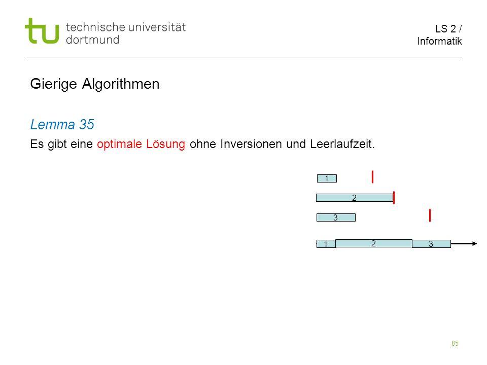 Gierige Algorithmen Lemma 35