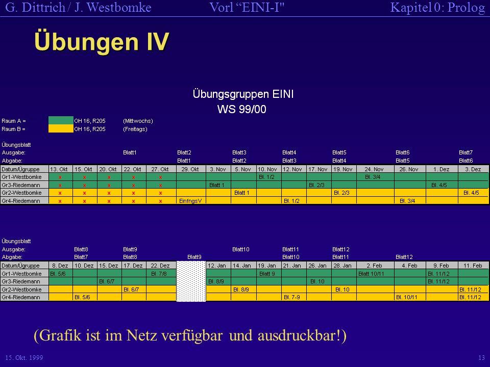 Übungen IV (Grafik ist im Netz verfügbar und ausdruckbar!)