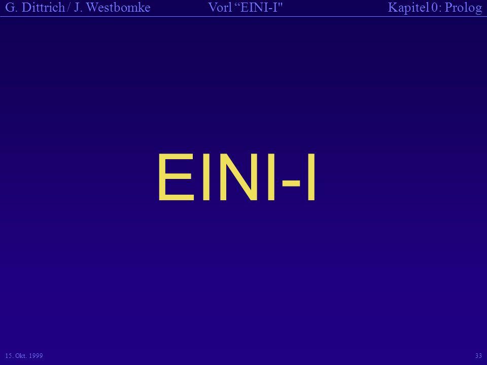 EINI-I 15. Okt. 1999