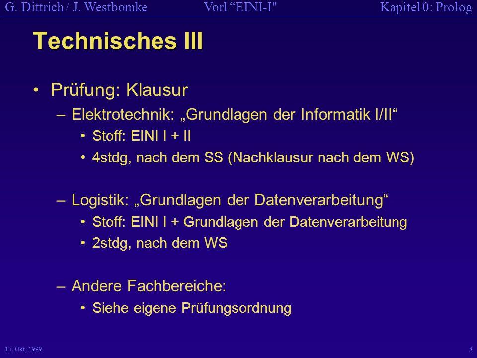 Technisches III Prüfung: Klausur