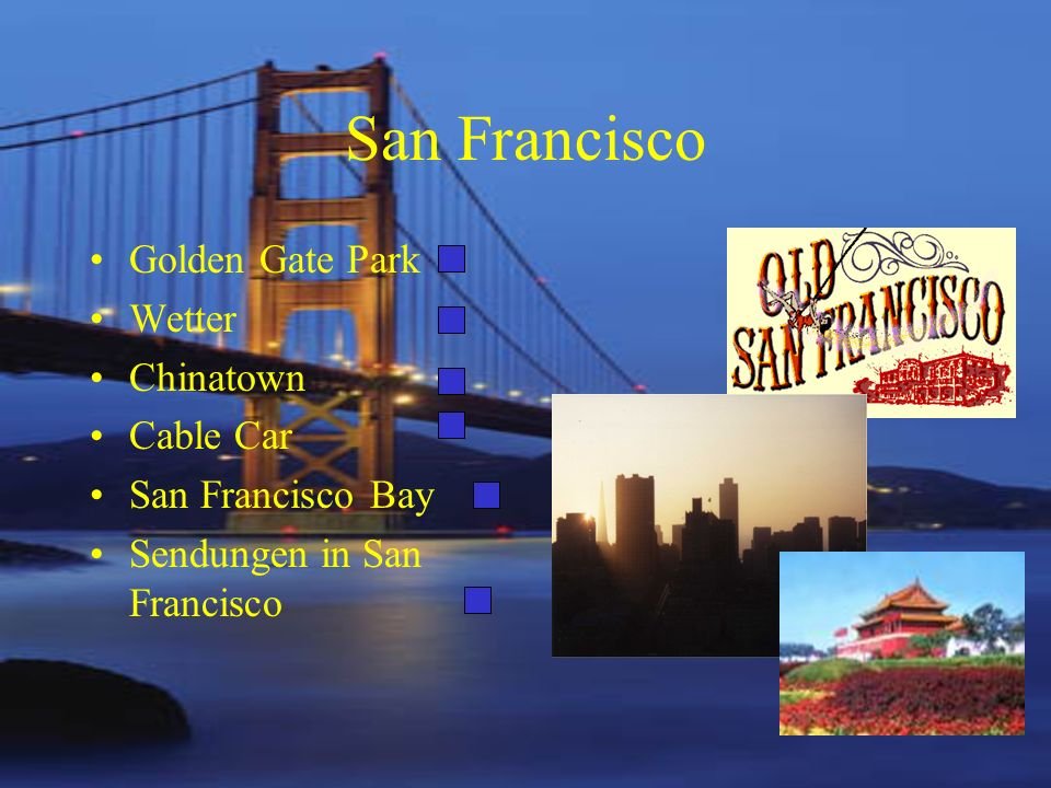 San Francisco Golden Gate Park Wetter Chinatown Cable Car