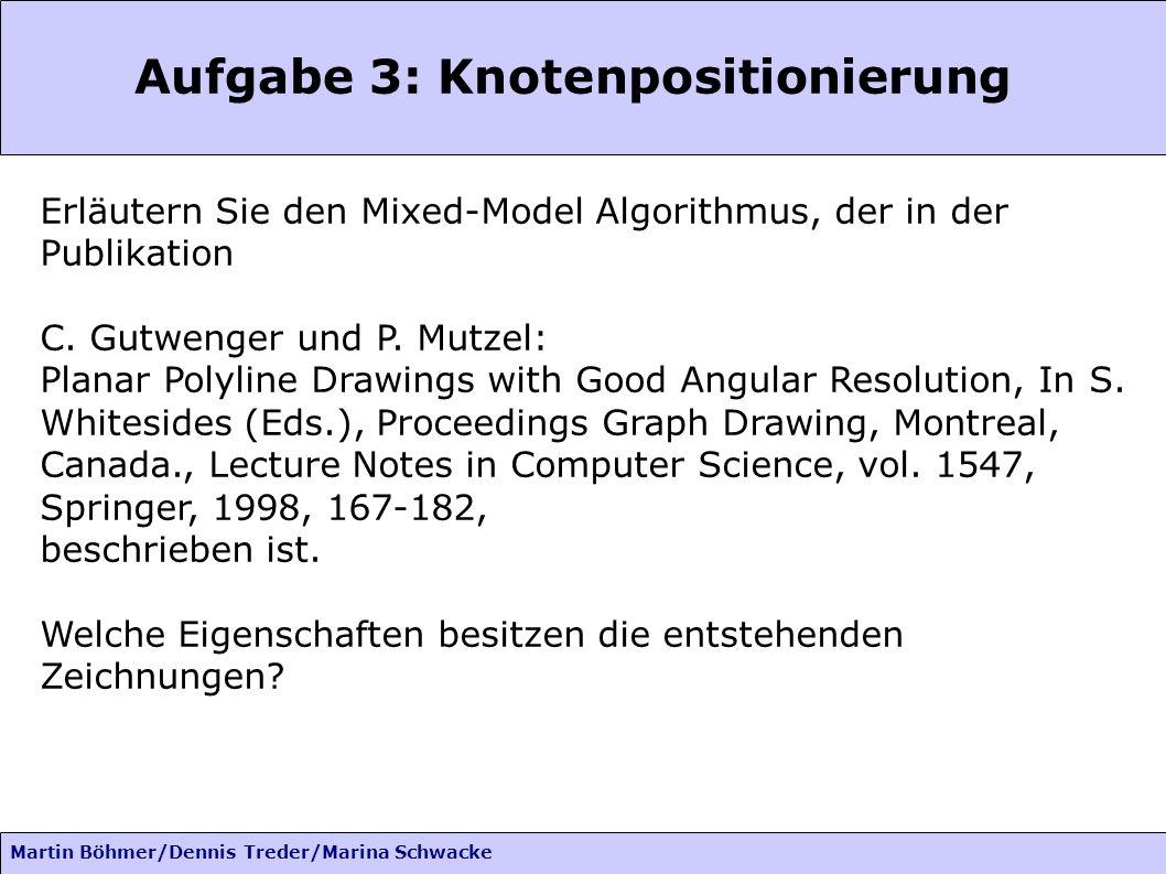 Aufgabe 3: Knotenpositionierung