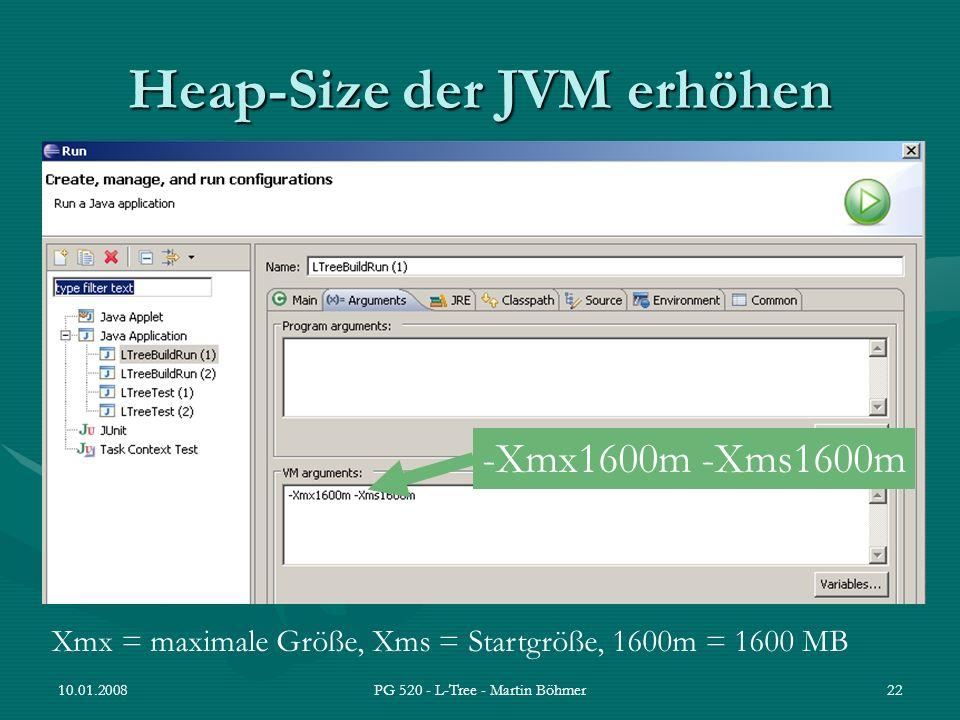 Heap-Size der JVM erhöhen