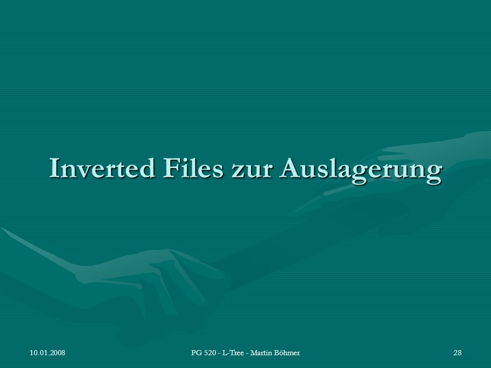 Inverted Files zur Auslagerung