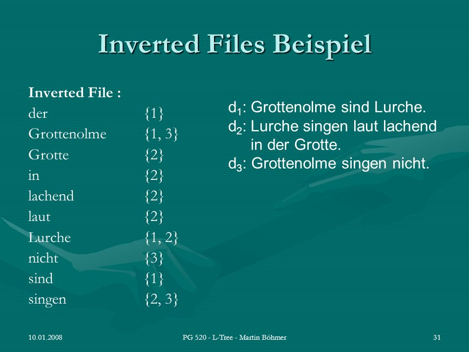 Inverted Files Beispiel