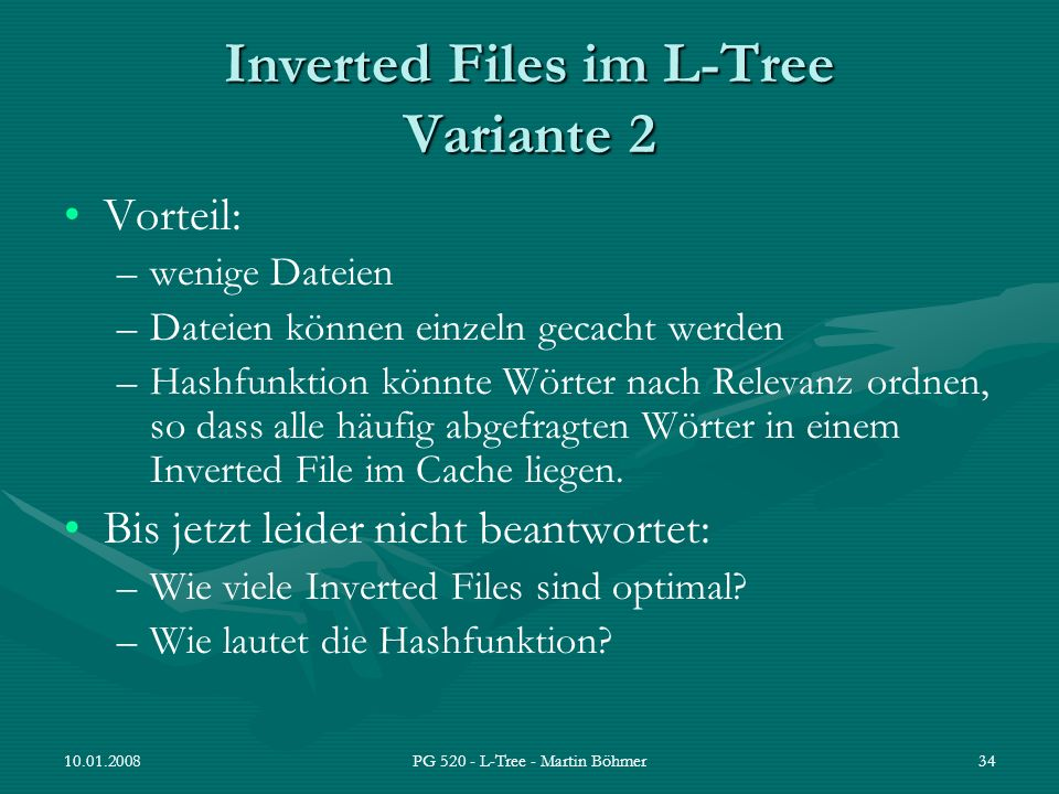 Inverted Files im L-Tree Variante 2