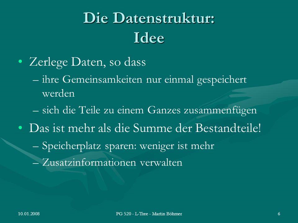 Die Datenstruktur: Idee