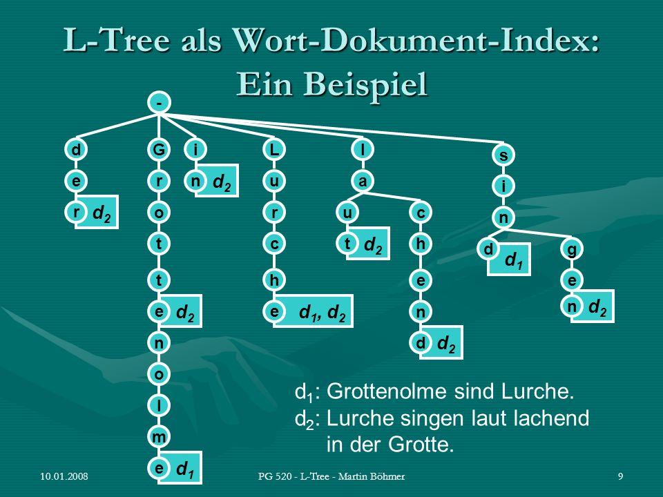 L-Tree als Wort-Dokument-Index: Ein Beispiel