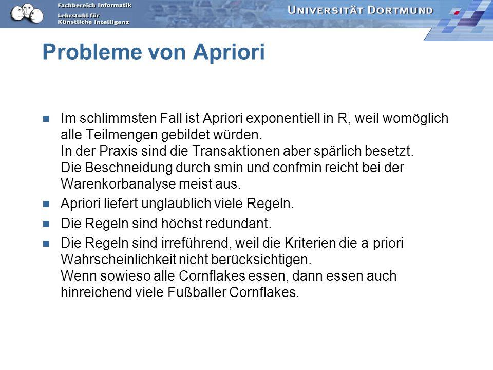 Probleme von Apriori