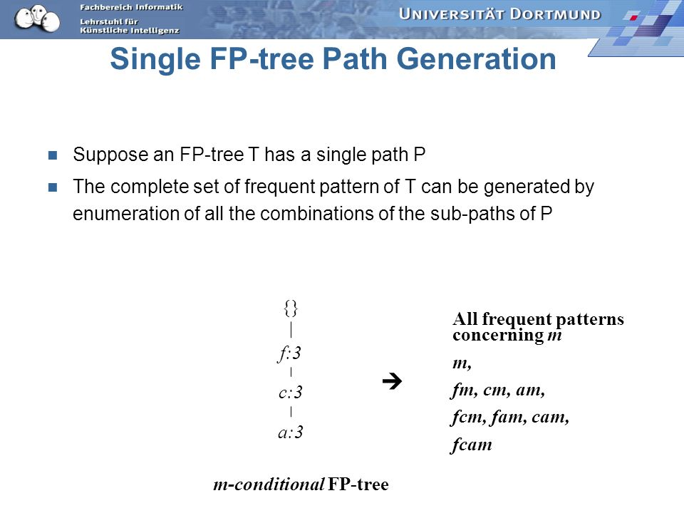 Single FP-tree Path Generation