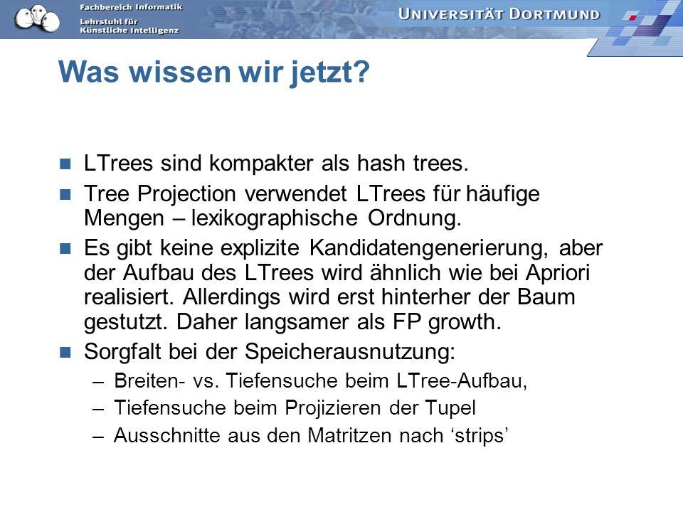 Was wissen wir jetzt LTrees sind kompakter als hash trees.