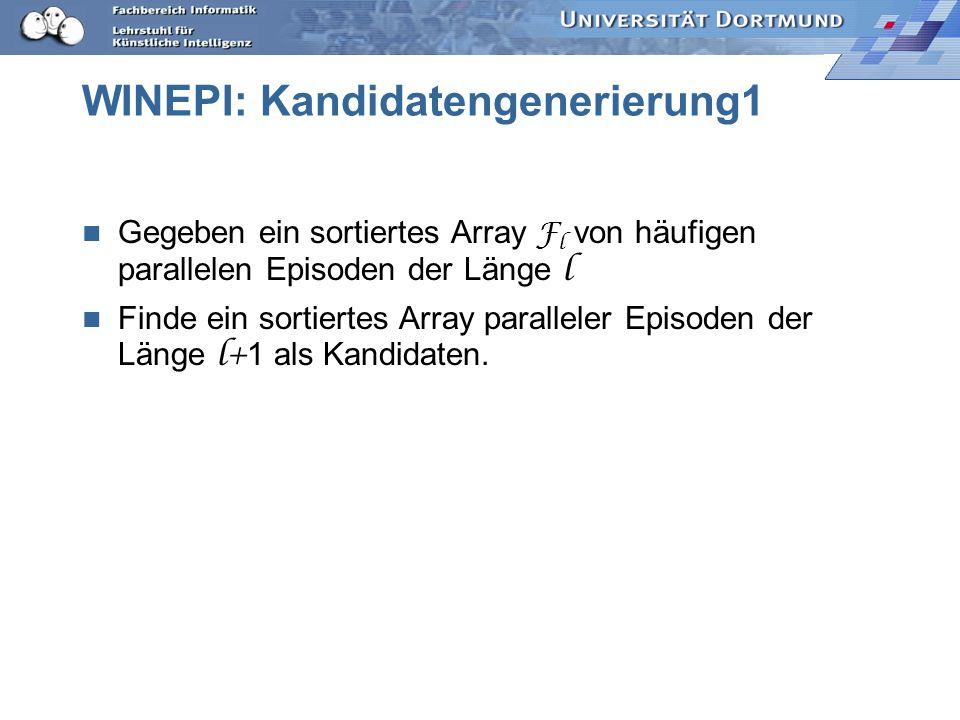WINEPI: Kandidatengenerierung1