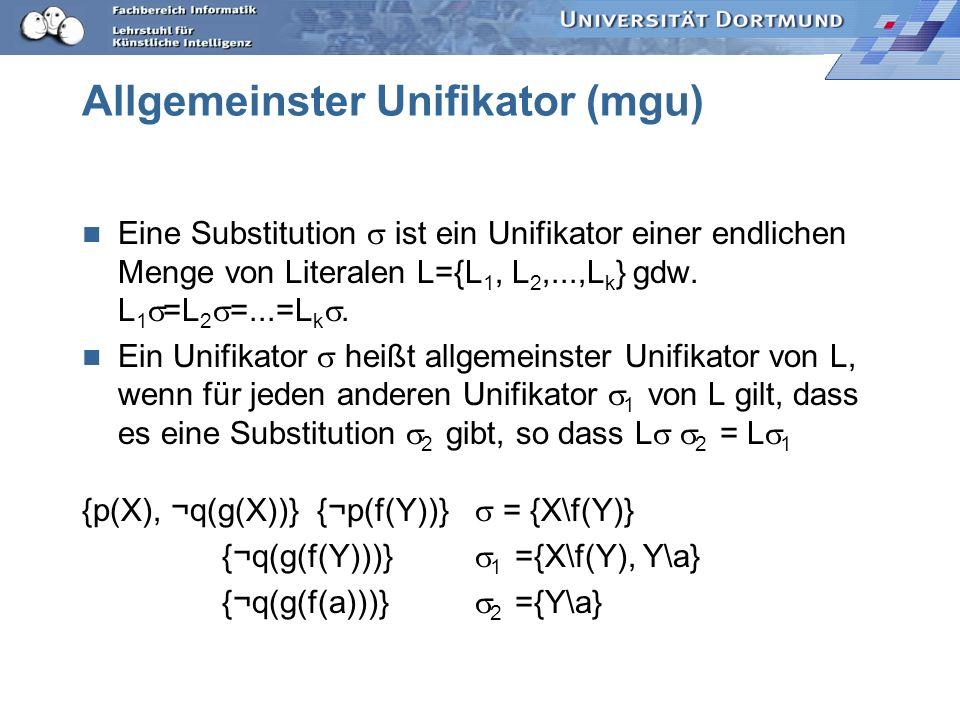 Allgemeinster Unifikator (mgu)