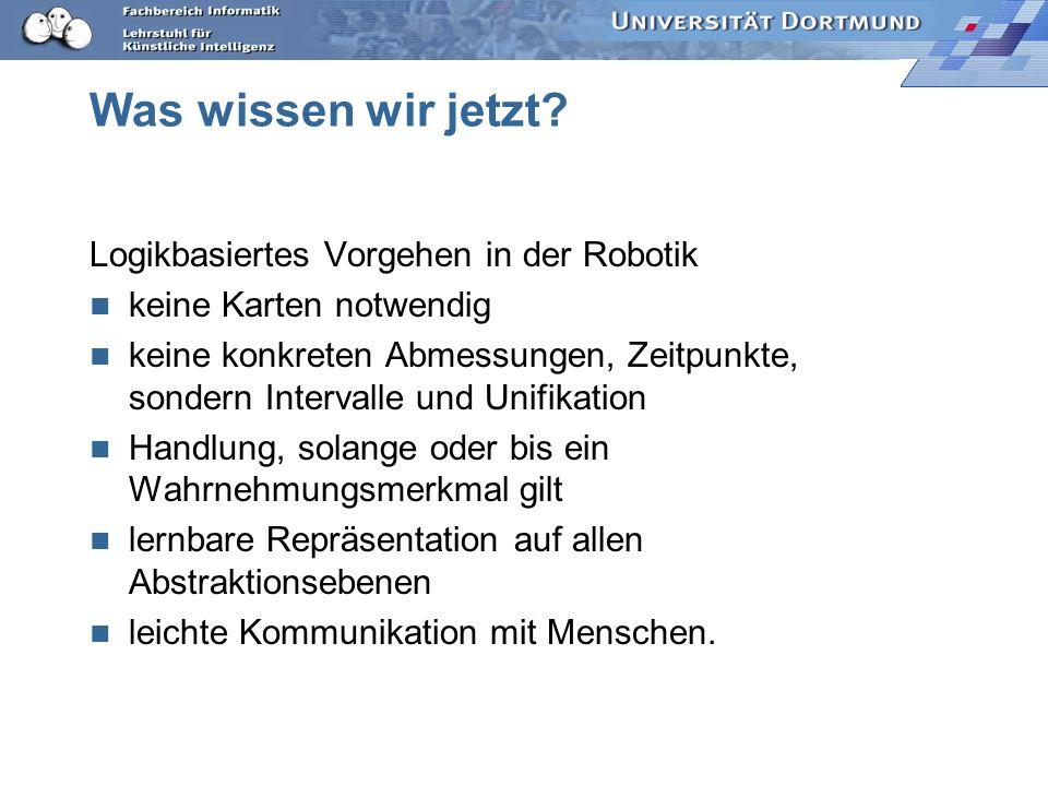 Was wissen wir jetzt Logikbasiertes Vorgehen in der Robotik