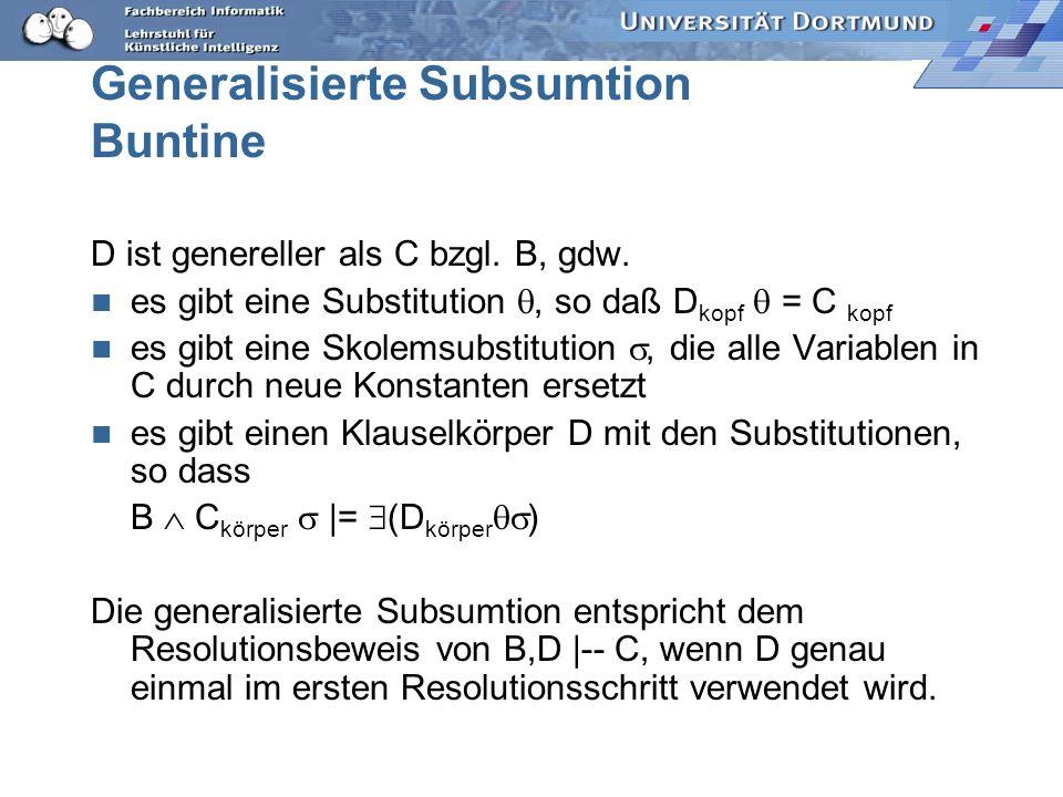 Generalisierte Subsumtion Buntine