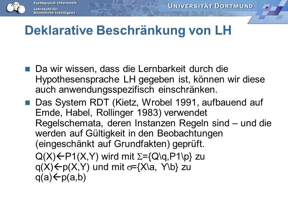 Deklarative Beschränkung von LH