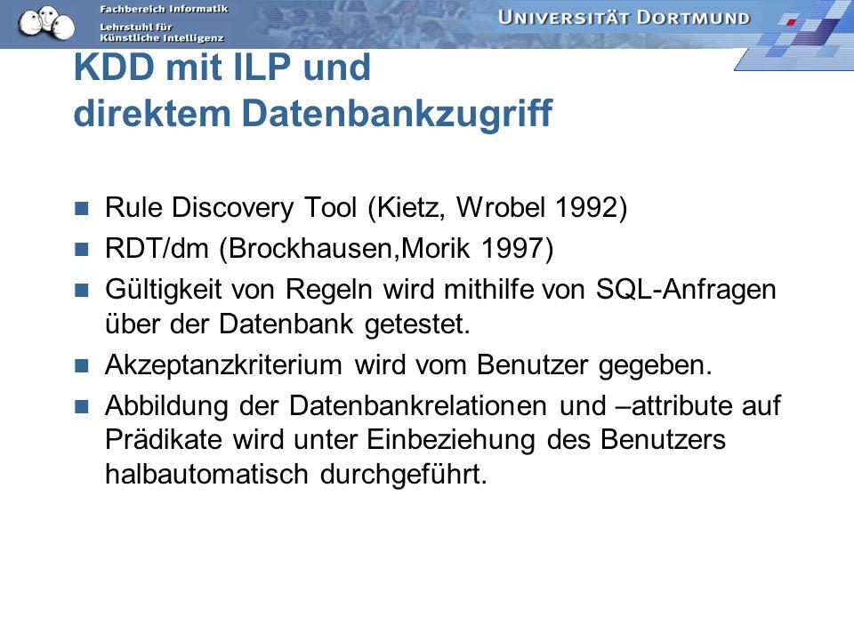 KDD mit ILP und direktem Datenbankzugriff