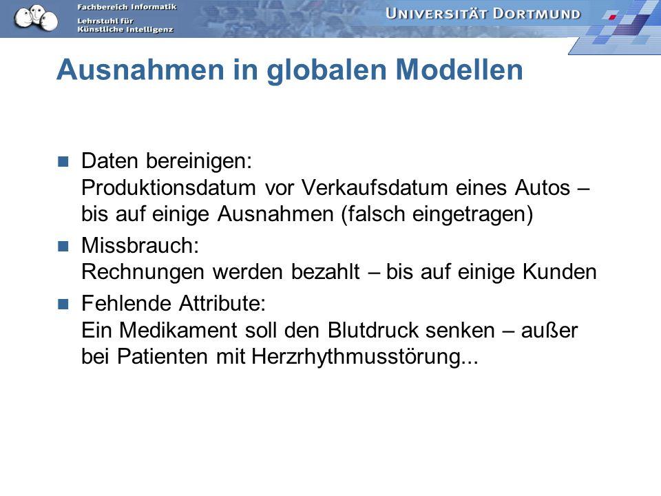 Ausnahmen in globalen Modellen