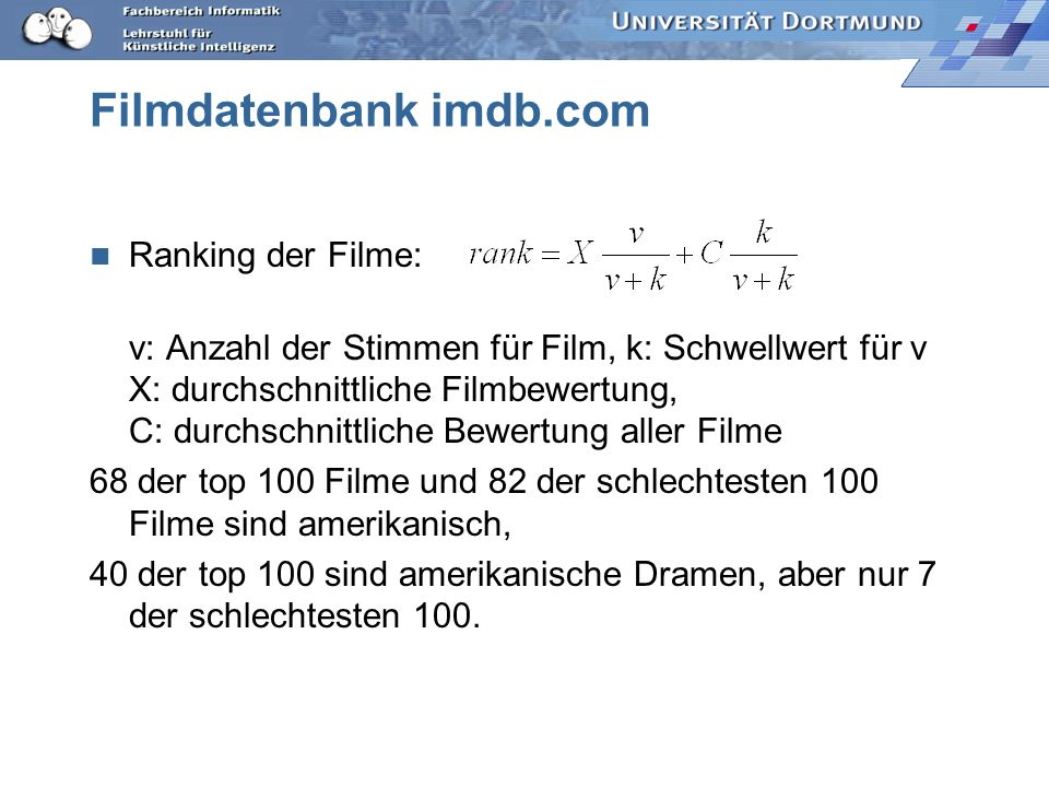 Filmdatenbank imdb.com