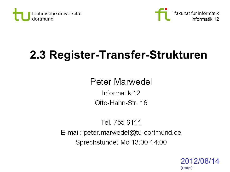 2.3 Register-Transfer-Strukturen