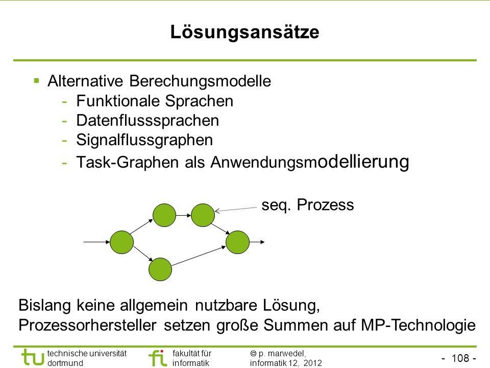 Lösungsansätze Alternative Berechungsmodelle Funktionale Sprachen