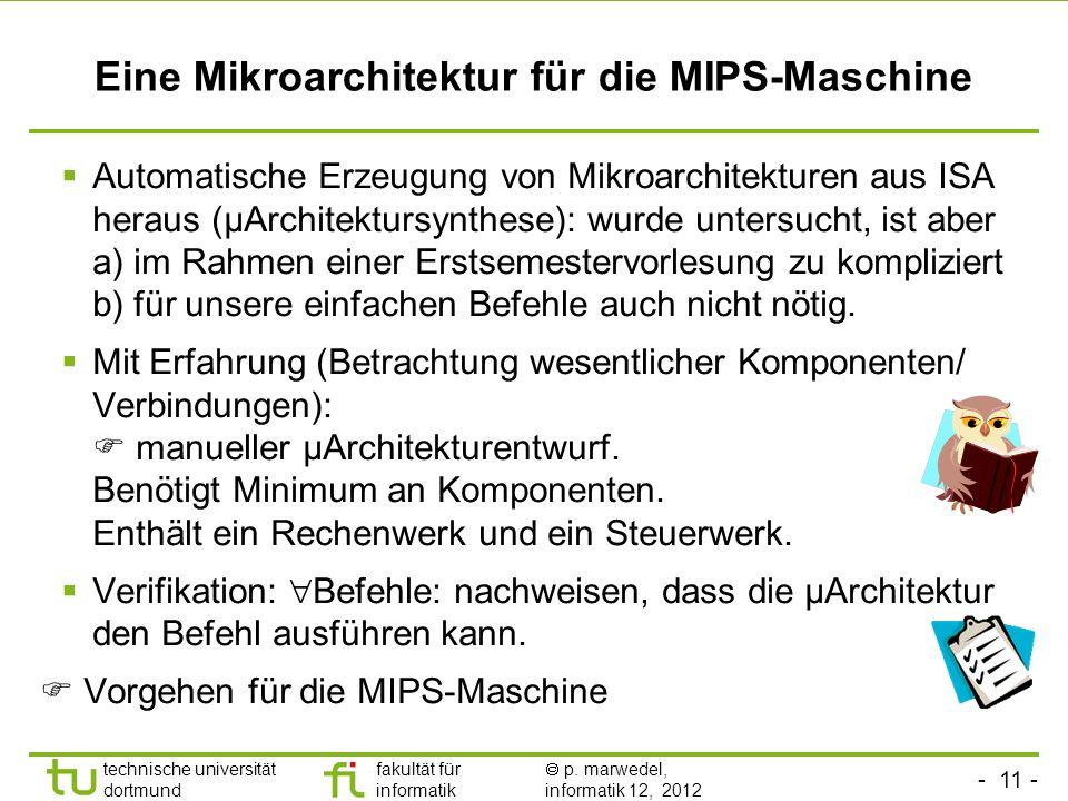 Eine Mikroarchitektur für die MIPS-Maschine