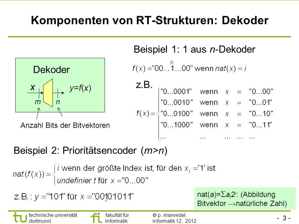 Komponenten von RT-Strukturen: Dekoder