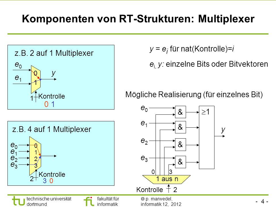 Komponenten von RT-Strukturen: Multiplexer