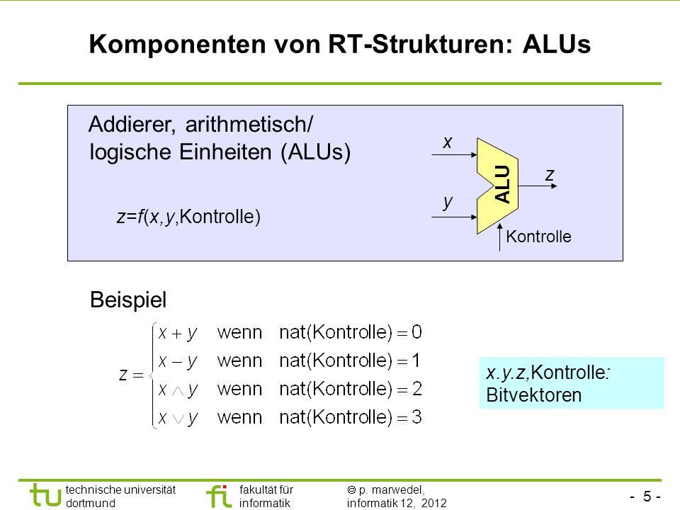 Komponenten von RT-Strukturen: ALUs