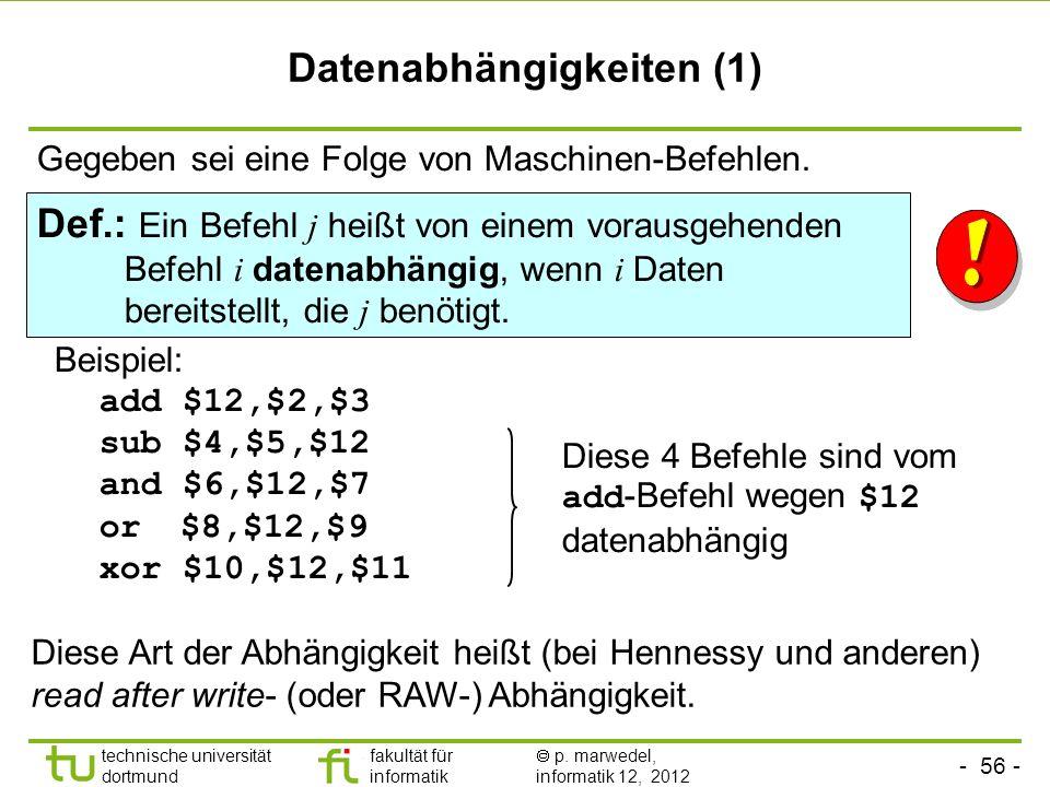 Datenabhängigkeiten (1)