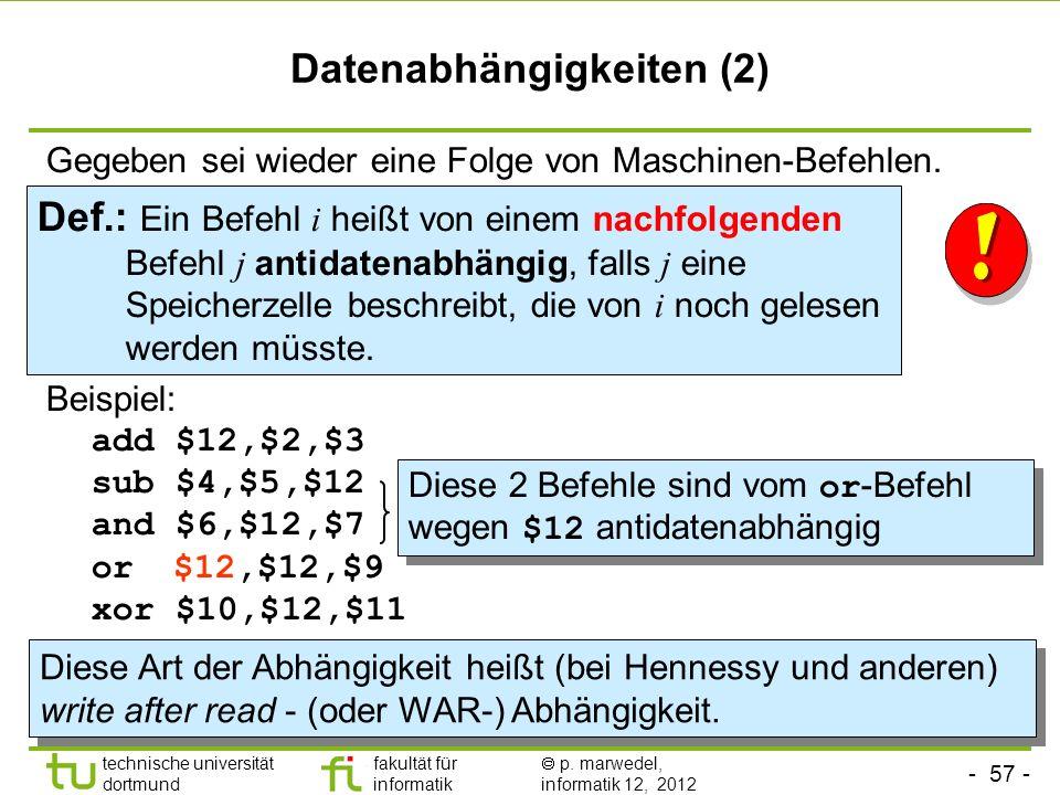 Datenabhängigkeiten (2)