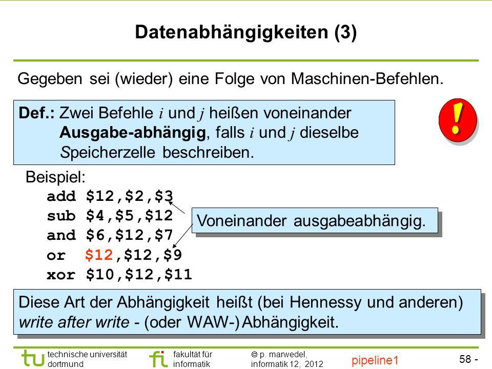 Datenabhängigkeiten (3)